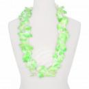 Hawaii Blumenkette Luxus grün weiß
