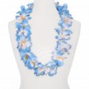 Hawaiian bloem ketting luxe oranje, wit, blauw