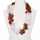 Hawaii Blumenkette Luxus braun weiß