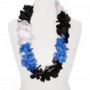 Hawaii Blumenkette Luxus schwarz weiß blau