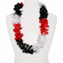 Hawaii Blumenkette Luxus schwarz weiß rot
