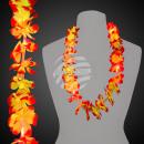 groothandel Lichtketting: Hawaiian Lei oranje met licht