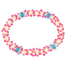 Hawaiian Flower Necklace pink with light
