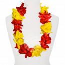 Hawaii Blumenkette MAXI rot gelb Länge: ca. 100 cm
