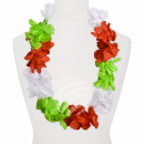 Maxi Hawaiian Flower Necklaces white red green