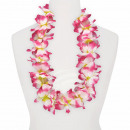 Maxi Hawaiian Flower Necklaces yellow white pink