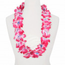 Hawaii Blumenkette MAXI blau weiß rosa