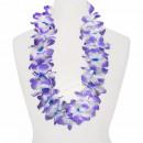 Hawaii Blumenkette MAXI blau weiß lila