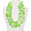 Hawaii Blumenkette MAXI grün weiß