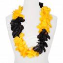 Hawaii Blumenkette MAXI schwarz gelb