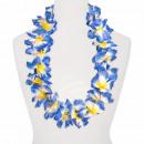 Maxi Hawaiian Flower Necklaces orange white blue