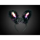Hairband bunny ears Bunny Light Feathers black