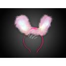 LED Hasenohren rosa Motiv: Hase