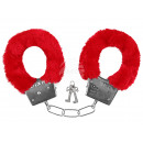 Handcuffs Plush  Handcuffs with plush red
