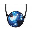 Escena redonda diseño del bolso: Galaxy