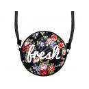 Round motif  handbag  Fresh flowers
