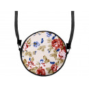 wholesale Handbags: Round motif handbag design: floral pattern