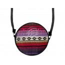 Escena redonda diseño del bolso: Azteca