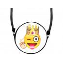 wholesale Handbags: Round motif handbag design: Emoji King Con