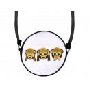 Großhandel Handtaschen: Runde Motiv-Handtasche 3 Affen