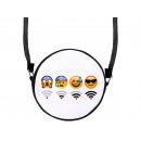 Runde  Motiv-Handtasche WiFi Emojis