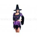 abito costume da strega con il cappello