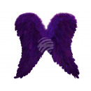 Carnival costume angel wings Wings with real Fed