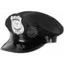 Police cap in black