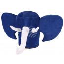 Elefant Karnevalshut in blau
