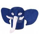 Elefant Karnevalshut in blau mit Augen