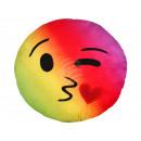 Kissen Rainbow Emoticon Emotikon Kuss