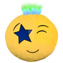 Punk Emoticon Kissen Stern Auge gelb