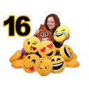 Ordinamento di 16 pezzi Emoticon Emoji cuscino