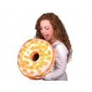 Donut cuscini * smalto bianco e arance * Ø 40 cm