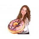 Donut cuscini *  glassa al cioccolato * ø 40 cm
