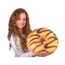 Donut Kissen Vanilleglasur, Schokoladenverzierung