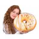mayorista Casa y decoración: Donut Almohadas *  * esmalte blanco Ø 40 cm