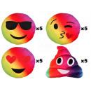 cuscini Mix Arcobaleno Emoticon Emoji Con