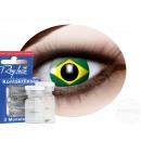 Weiche getönte Kontaktlinse Brasilien grün gelb