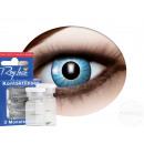 Weiche getönte Kontaktlinse strahlende Augen blau