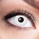 Weiche getönte Kontaktlinse White Zombie weiss