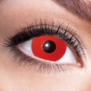 Soft tinted contact lens Red Devil red