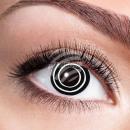 Weiche getönte Kontaktlinse Black Spiral schwarz