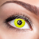 Soft tinted contact lens Yellow Crow Eye yellow