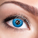 Soft tinted contact lens Electro Blue blue