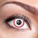 Weiche getönte Kontaktlinse Saw weiß rot