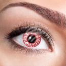 Weiche getönte Kontaktlinsen Bloodshot rot weiß