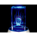 Kristall Quader Glas Kristallquader Totenkopf