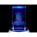 Crystal ball design: leaping dolphins color: clear
