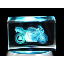 Glass crystal cube 3D laser engraving